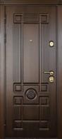 Стальная дверь «Цезарь» Дуб темный/Дуб темный